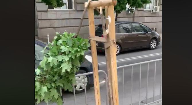 Вандализъм в центъра на София рзгневи жители на столицата. През