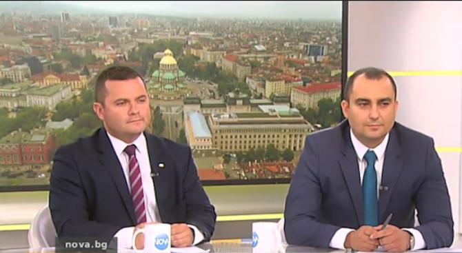Александър Иванов от ГЕРБ и Пенчо Милков от БСП се