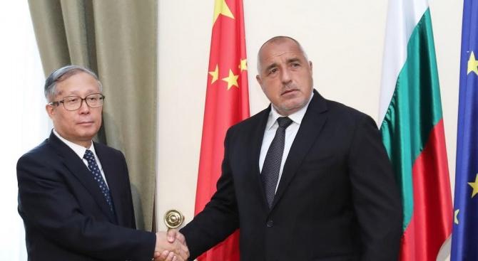 Борисов проведе среща с делегация от Китай