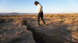 Огромна пукнатина се отвори след земетресението в Калифорния