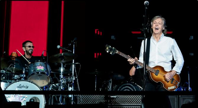 Ринго Стар се включи в последния концерт от турнето на