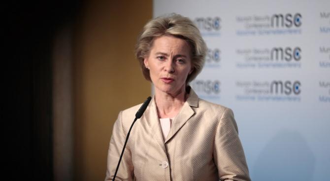 Номинираната за председател на Европейската комисия Урсула фон дер Лайен