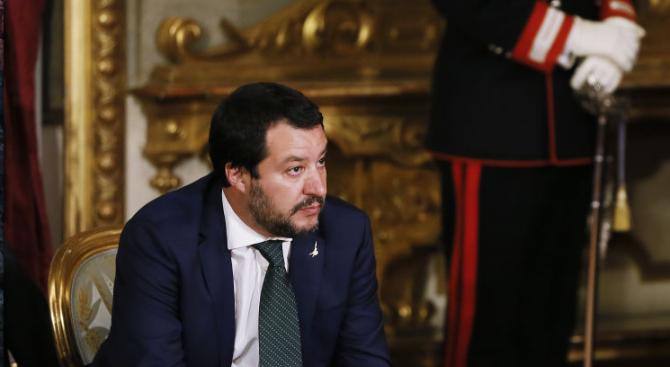 Италианският министър на вътрешните работи Матео Салвини поръча да бъде