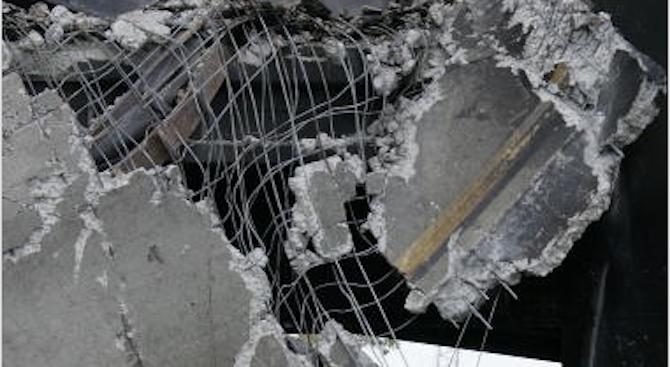 Част от стара къща се срути в изкоп за нова