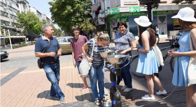 """Мобилни чешми ще """"утоляват жегата"""" на 22, 23 и 24 юли в София"""