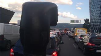 """Километрично задръстване на """"Цариградско шосе"""" до разклона за Горубляне"""