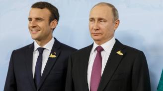 Путин и Макрон разговаряха по телефона