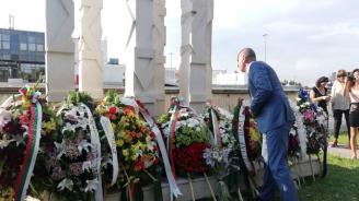 Цветанов участва в церемонията по повод 7 години от атентата в Сарафово