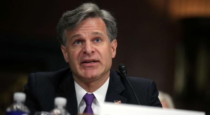 Директорът на американското Федерално бюро за разследване Кристофър Рей заяви,