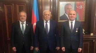 Удостоиха Илхан Кючюк с престижен орден от парламента на Азербайджан