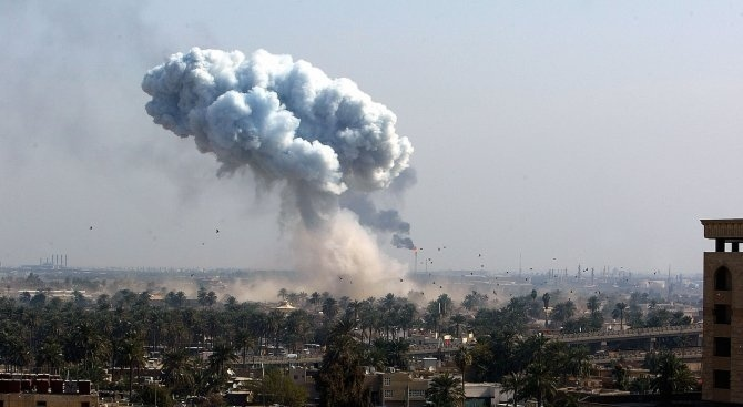 Най-малко 10 цивилни, включително деца, бяха убити днес при въздушен