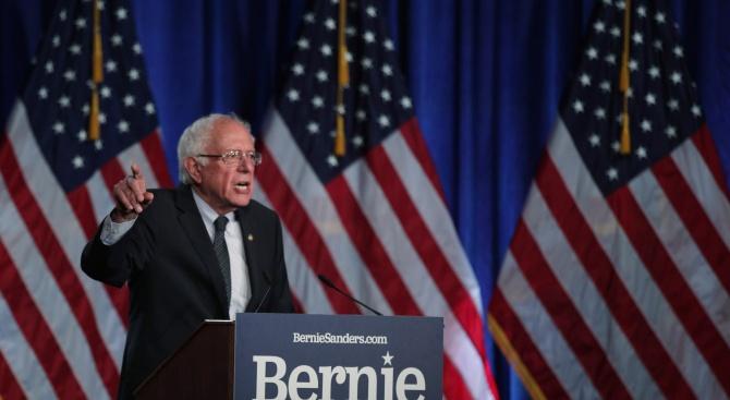 Сенаторът от Върмонт Бърни Сандърс обеща да укрепи позициите на