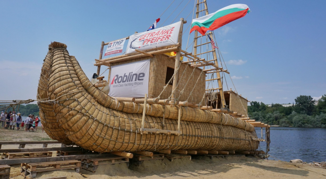 Кръстиха индианската тръстикова лодка край Белослав