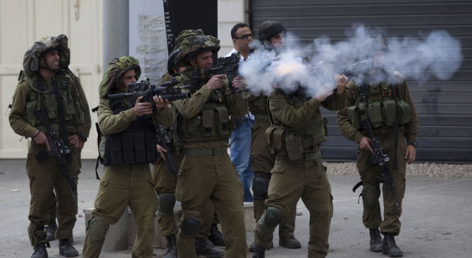 Бойци от подразделение със специално предназначение на израелската армия (ЦАХАЛ)