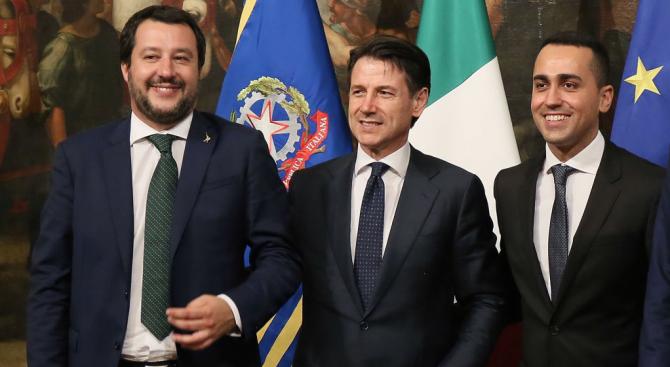"""Италианският вицепремиер и лидер на крайнодясната партия """"Лига"""" Матео Салвини"""