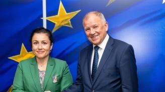 Министър Танева се срещна с европейския комисар по здравеопазване и безопасност на храните