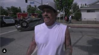 Актьорът Дани Трехо извади бебе от катастрофирала кола