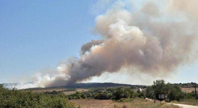Пожар избухна край хасковското село Брягово