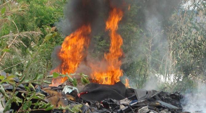 РИОСВ-Пловдив установи превишения на фини прахови частици от пожара на депото в Шишманци