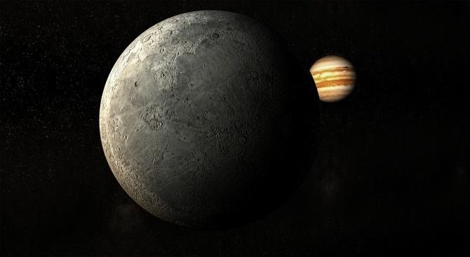 Снимка: Мощен челен сблъсък обяснява странното ядро на Юпитер