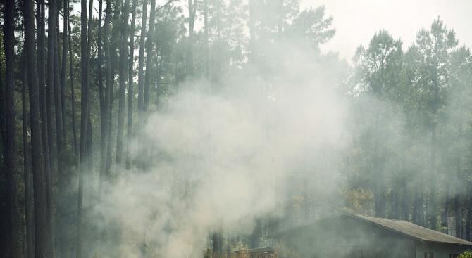 Над 500 пожарникари се борят с пожар, който от вчера
