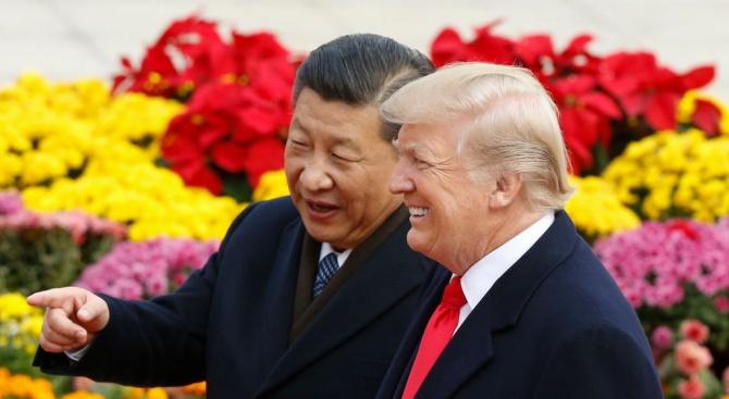 Американският президент Доналд Тръмп призова днес китайския си колега Си