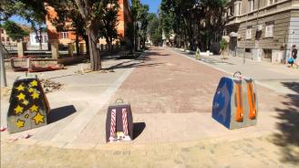 Деца разкрасиха новата пешеходна зона във Варна