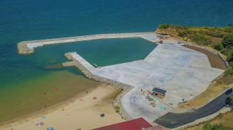 """Приключи тежката строителна работа по новата лодкостоянка в бургаския квартал """"Крайморие"""""""