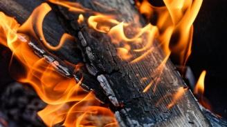 Мъж пострада при пожар, опитал да го загаси