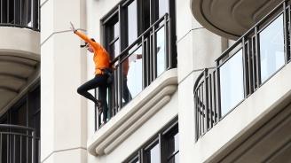 Човека паяк призова за мир в Хонконг
