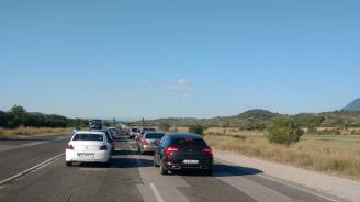 Задръствания по обходния маршрут край Дупница