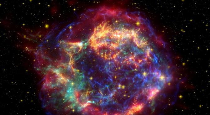 Снимка: Астрономи откриха нов вид космически катастрофи