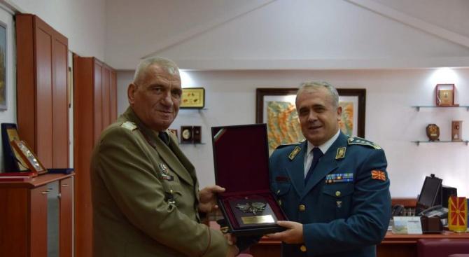 Снимка: Ген. Андрей Боцев беше на официално посещение в Република Северна Македония