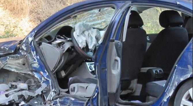 Снимка: Катастрофа с ранени на пътя Дамяница-Сандански