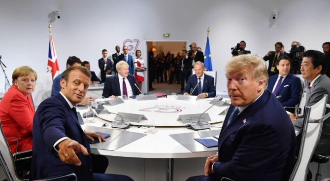 Световните лидери на срещата на върха на Г-7 се съгласиха
