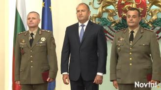 Президентът удостои български военнослужещи с висше офицерско звание