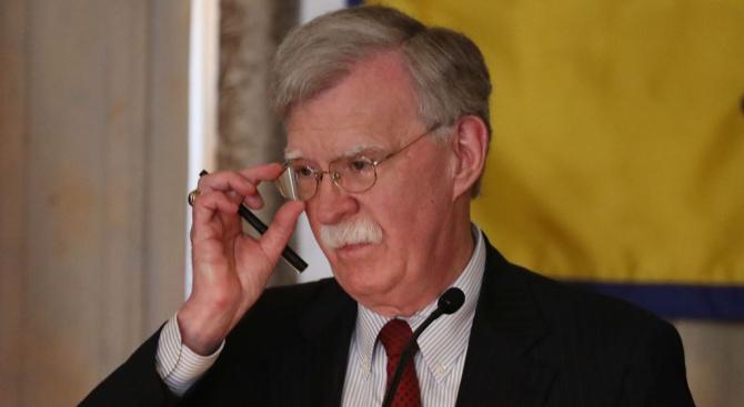 Съветникът по националната сигурност на Белия дом Джон Болтън посети