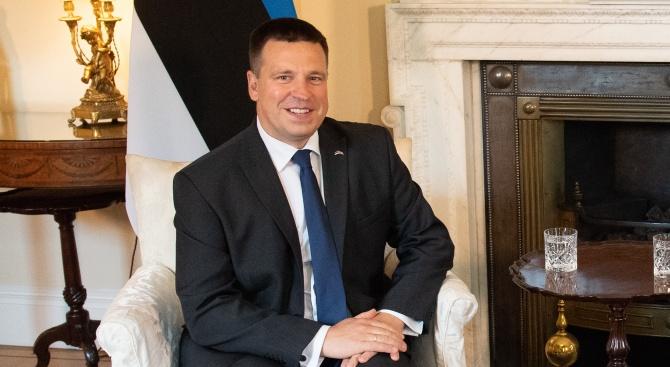 Премиерът на Естония Юри Ратас запази поста си днес след
