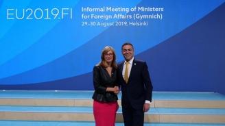 Захариева обсъди европейската перспектива на Република Северна Македония със своя колега Никола Димитров