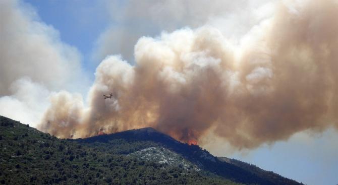 Пожарът в планината Готен в Северна Македония се разшири