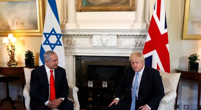 Израелският премиер Бенямин Нетаняху се срещна в Лондон с британския