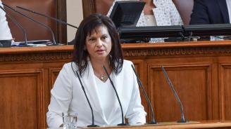 Дариткова отговори на Радев: Президентът отново начерта разделителни линии между институциите