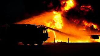Животни и фураж изгоряха в пожар