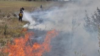 Пожар гори до село Горски извор