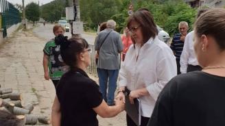 Нинова в Сотиря: Пред мъката на хората нямат място партийните алтернативи