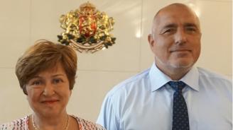 Кристалина Георгиева обсъди с Борисов приоритетите си като кандидат за шеф на МВФ