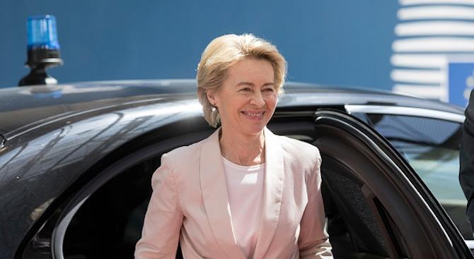 Новоизбраният председател на Европейската комисия Урсула фон дер Лайен ще