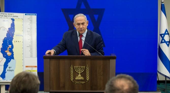 Израелският премиер Бенямин Нетаняху обяви днес, че ще анексира части