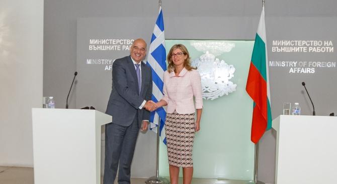 Захариева: България няма да забрави подкрепата на Гърция по пътя към Европейския съюз