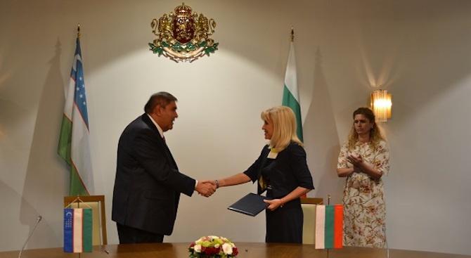 Петя Аврамова: Партньорството ни с Узбекистан е на добро равнище, но трябва да се разшири